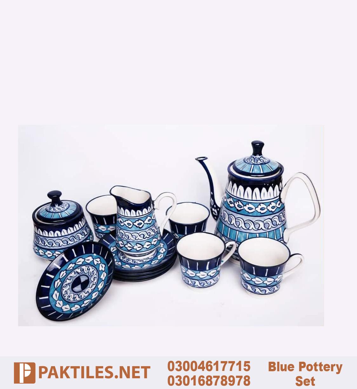 3 Multani Blue Pottery Tea Set in Islamabad