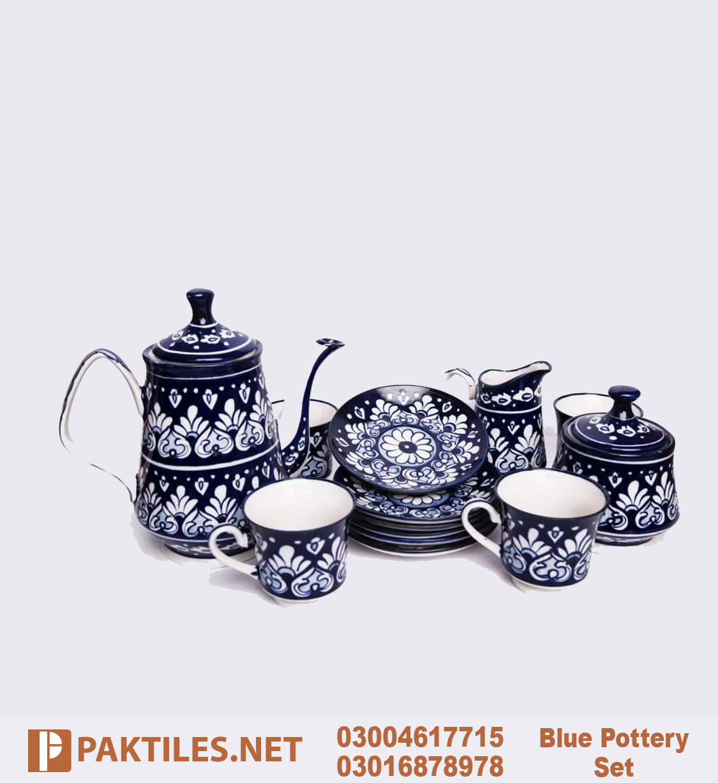 4 Multani Blue Pottery Tea Set in Lahore Faisalabad