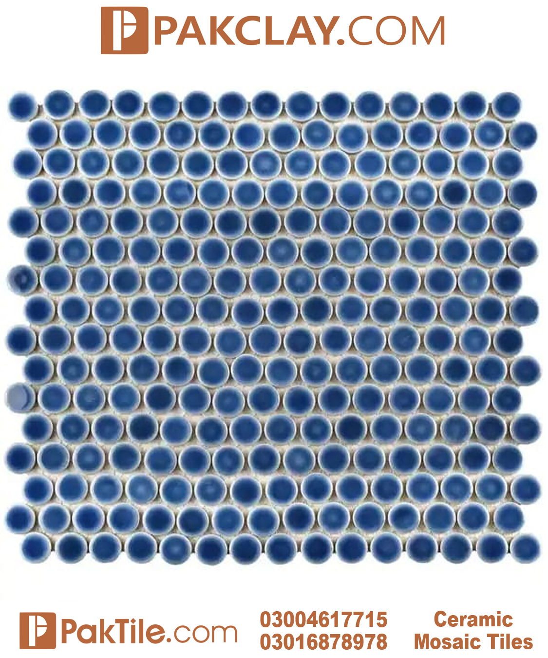 Navy Blue Color Ceramic Bathroom Wall Tiles in Pakistan