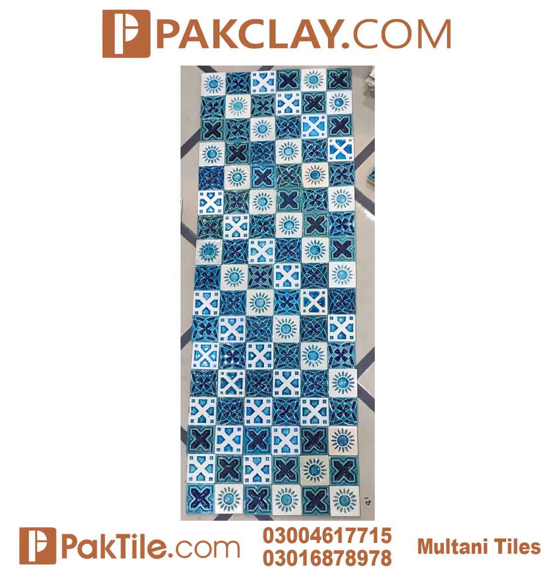 4 Pak Clay Blue Multani Tiles in Lahore