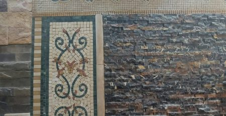 Pak Clay Living Room Natural Stone Mosaic Tiles for Walls
