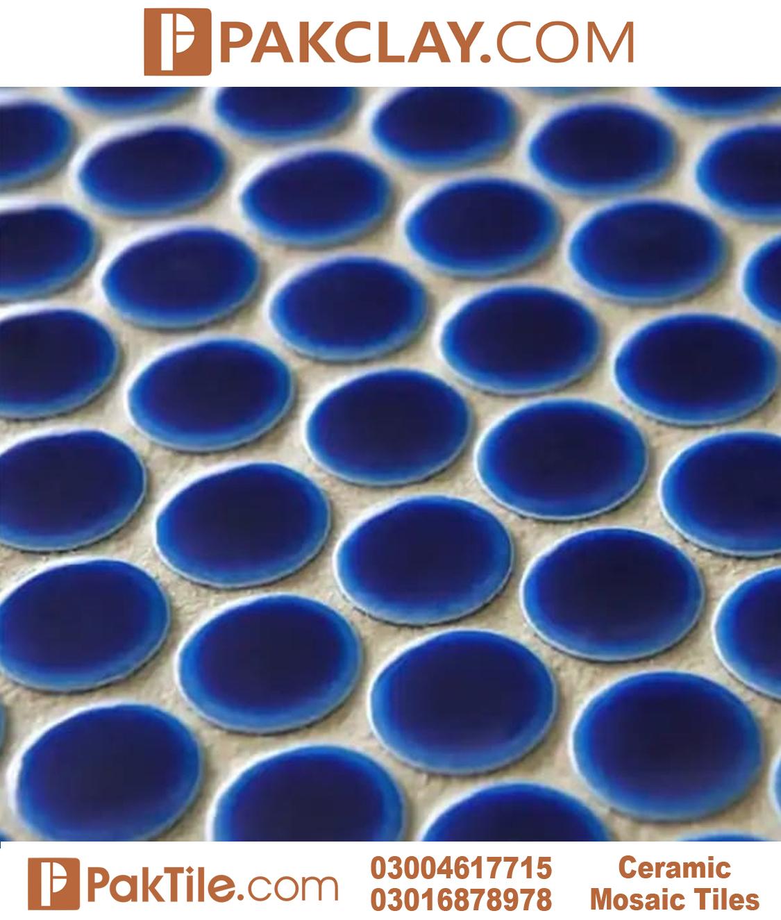 Cobalt Blue Colour Porcelain Bathroom Floor Tiles in Pakistan