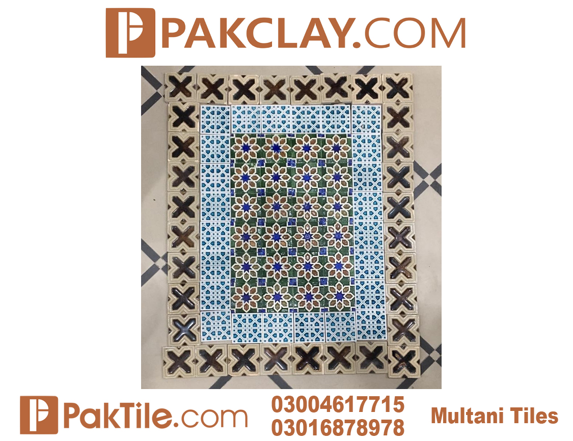 8 Pak clay kitchen wall tiles multani pottery in lahore