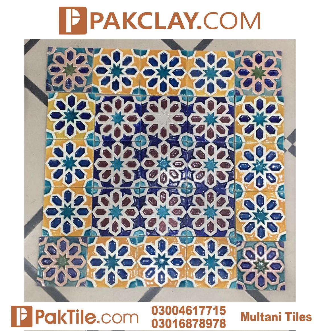 9 Pak Clay Multani Pottery Blue tiles in Pakistan wall tiles price
