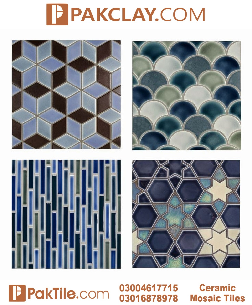 Blue Multani Tiles Design in Pakistan