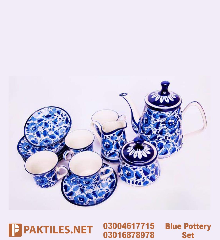 Multani Blue Pottery Tea Set in Multan
