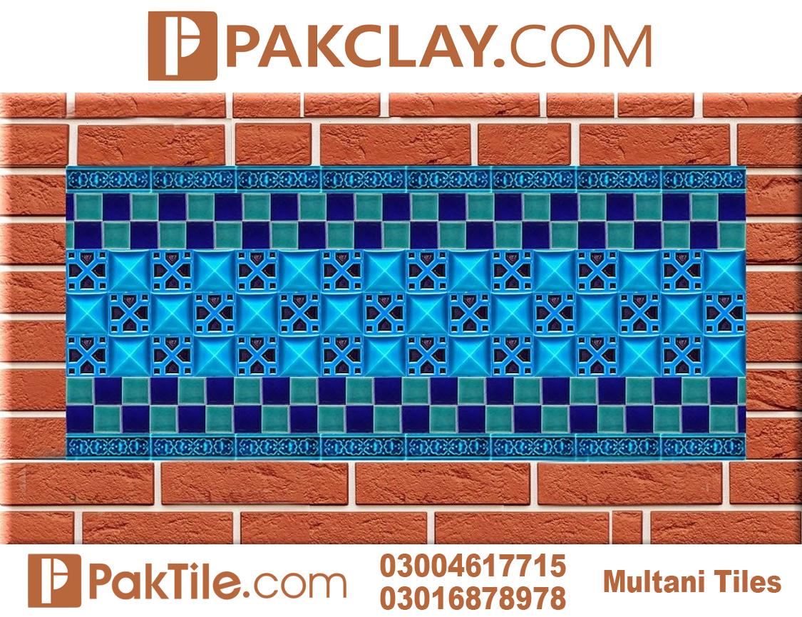 Blue Pak Clay Exterior Multani Tiles Design