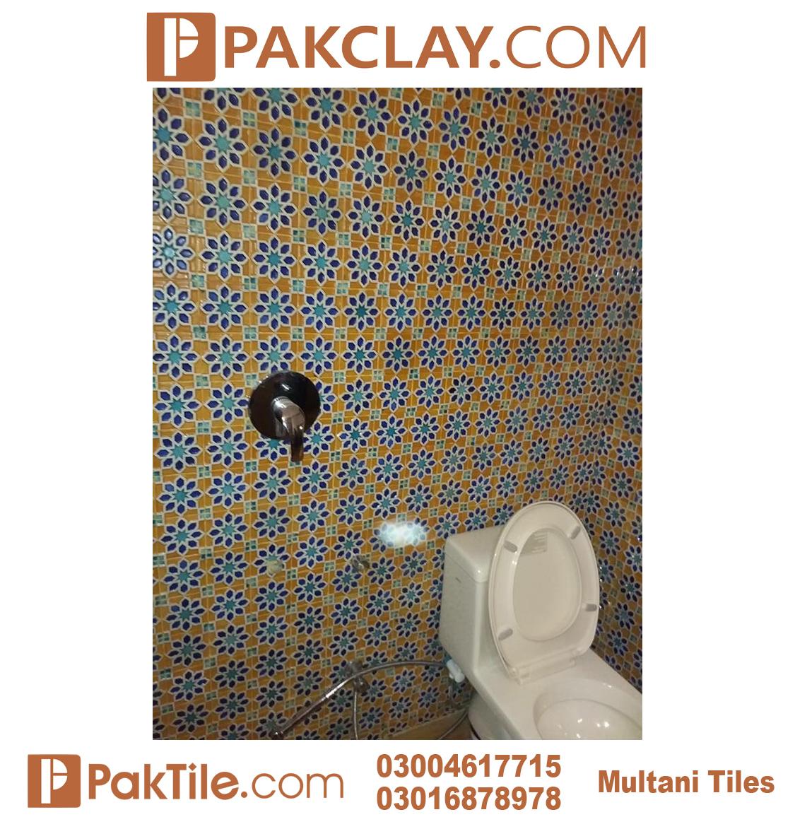 Blue Pak Clay Bathroom Multani Tiles and Naqashi