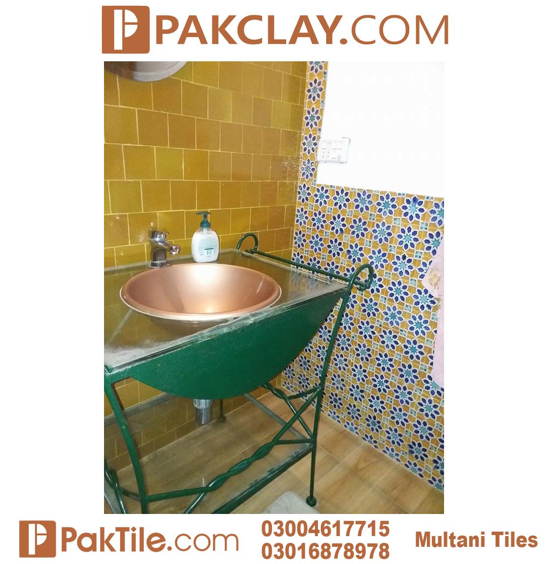 Washroom Blue Multani Tiles For Walls