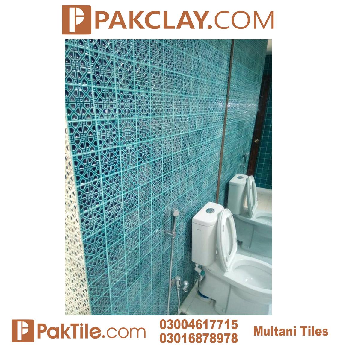 Blue Color Pak Clay Multani Tiles For Bathroom